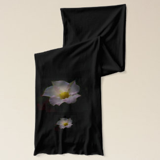 Beautiful scarf with backlit floral petals