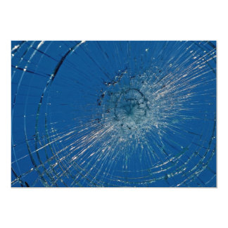 Beautiful Shattered glass 13 Cm X 18 Cm Invitation Card
