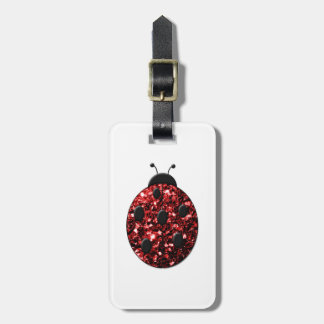 Beautiful Sparkling red sparkles Ladybird Ladybug Bag Tag