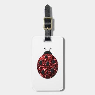 Beautiful Sparkling red sparkles Ladybird Ladybug Bag Tag