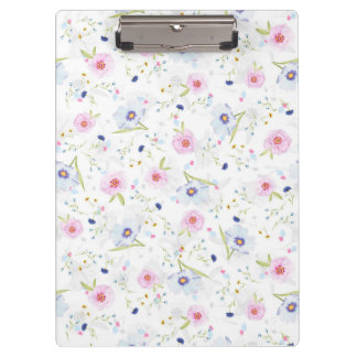 Beautiful Spring watercolor flowers Clipboards
