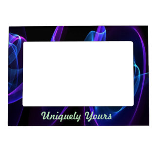 Beautiful Storm of Color Light on Dark Magnetic Frame
