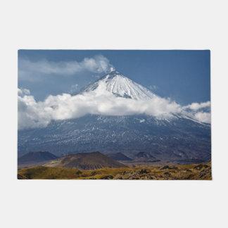 Beautiful stratovolcano in Kamchatka Peninsula Doormat