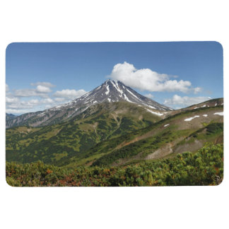 Beautiful summer volcanic landscape floor mat