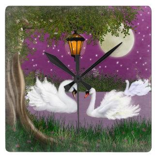 Beautiful Swan Clock