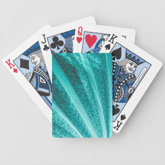 Beautiful Teal Curve Vintage Fabric Abstract Bicycle Card Deck