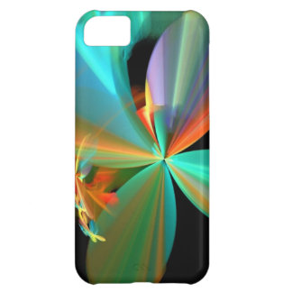 Beautiful Teal & Orange Fractal Art Flower Petals iPhone 5C Case