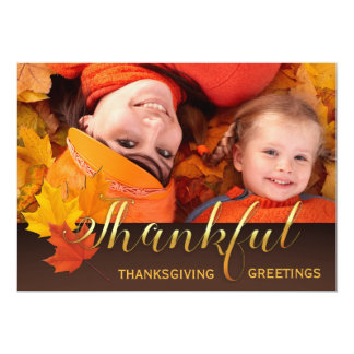 Beautiful Thanksgiving Photo Card