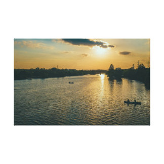 Beautiful Town Lake Sunset in Austin Canvas Print
