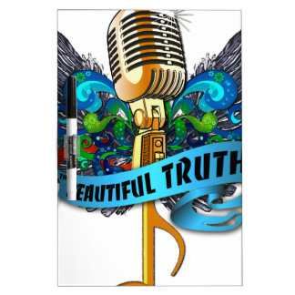 Beautiful Truth Microphone and Note Dry Erase Board