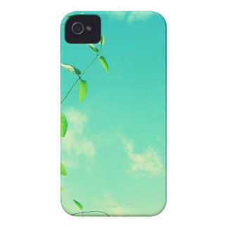 Beautiful vibrant sky with leaves iPhone 4 cover