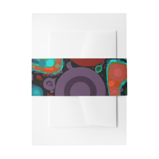 Beautiful Vibrant Swirly Abstract Pattern Invitation Belly Band