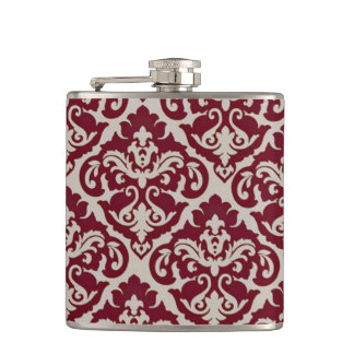 Beautiful Victorian Damask Flask