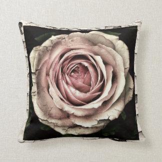 Beautiful vintage grunge rose pillow
