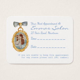Beautiful Vintage Hairdresser Appointment Reminder Business Card