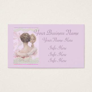 Beautiful Vintage Lady In Pink Business Card