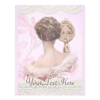 Beautiful Vintage Lady In Pink Flyer