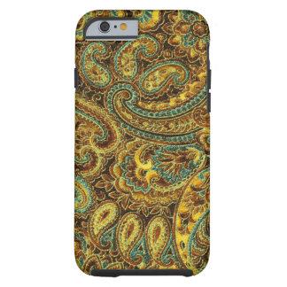 Beautiful Vintage Paisley Yellow-Brown Tones Tough iPhone 6 Case