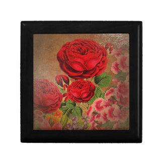 Beautiful Vintage Textured Rose Gift Box