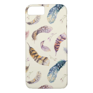 Beautiful Watercolor Feathers Pattern iPhone 8/7 Case