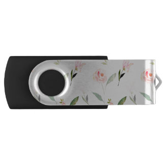 Beautiful Watercolor Floral USB Flash Drive