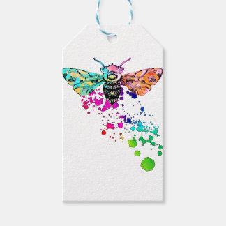 Beautiful Watercolor Rainbow HoneyBee Gift Tags