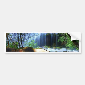 Beautiful Waterfall Jungle Landscape Bumper Sticker