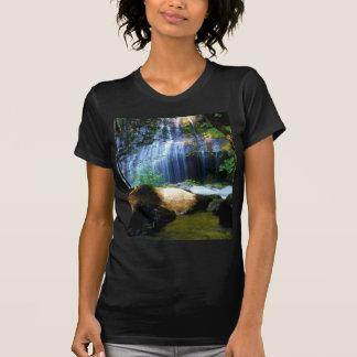 Beautiful Waterfall Jungle Landscape Tshirt
