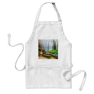 Beautiful waterfall nature design standard apron