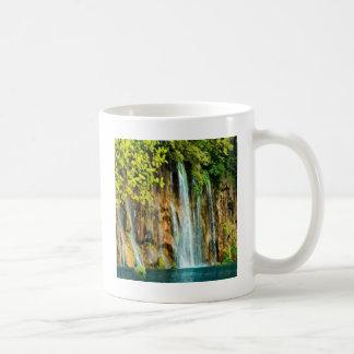 Beautiful waterfall nature water design coffee mug