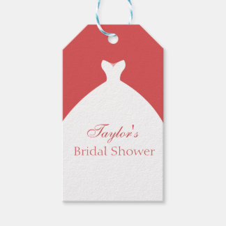 Beautiful Wedding Gown Custom Gift Tags