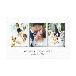 Beautiful Wedding Photo Collage Canvas Print