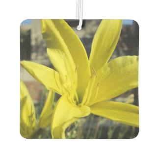 Beautiful Yellow Lily Car Air Freshener