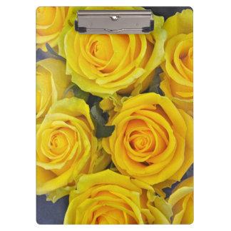 Beautiful yellow roses clipboard