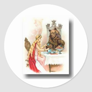 Beauty and the beast round sticker