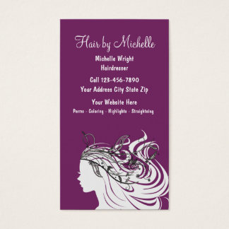 Beauty Hairdressing Business Cards