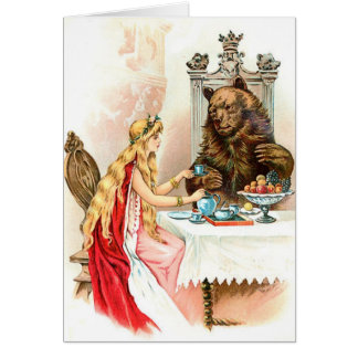 Beauty In Pink And The Beast Greeting Card