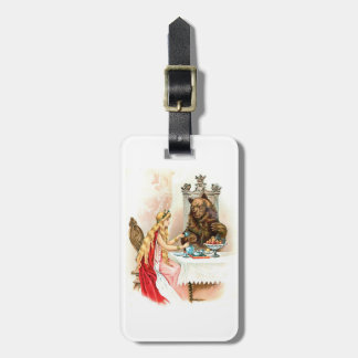 Beauty In Pink And The Beast Luggage Tag