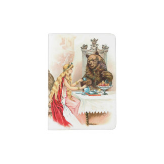 Beauty In Pink And The Beast Passport Holder