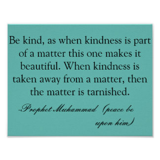 Beauty is in kindness poster