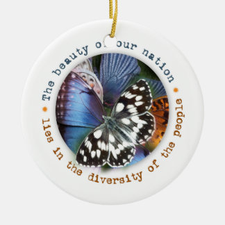 Beauty of our nation lies in diversity christmas ornament