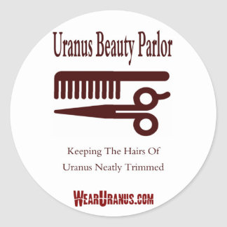 Beauty Parlor Classic Round Sticker