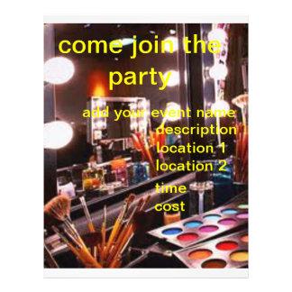 beauty party flyer