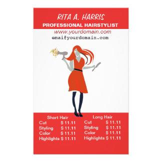 Beauty Salon Hairstylist  Hairdressing Price List Flyer