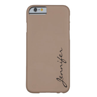 Beaver color background barely there iPhone 6 case