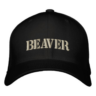 BEAVER EMBROIDERED HAT