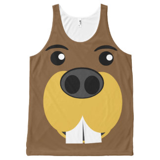 Beaver Face All-Over Print Tank Top