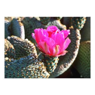 Beavertail Cactus Custom Invitation