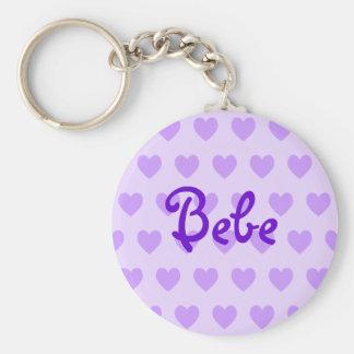 Bebe in Purple Key Ring