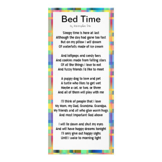 Bed Time Rack Card